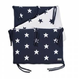 Baby's Only Bedbumper Star marine/wit