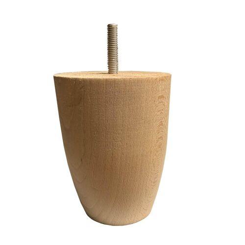 Furniture Legs Europe Blank onbehandelde houten ronde meubelpoot 12 cm (M8)
