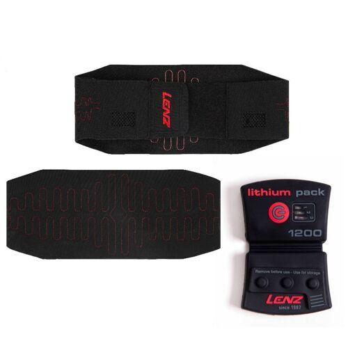 Lenz Lithium Pack 1200 + 1.0 heatable kidney belt verwarmbare niergordel - Zwart