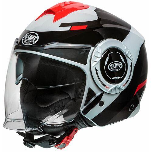 Premier Cool OPT 2 Jet helm - Zwart Wit
