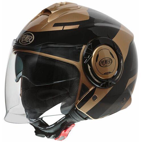 Premier Cool OPT 19 Jet helm - Zwart