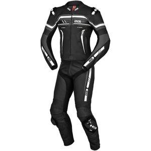 IXS Sport RS-700 2.0 Twee stuk motorfiets leder pak - Zwart Grijs Wit