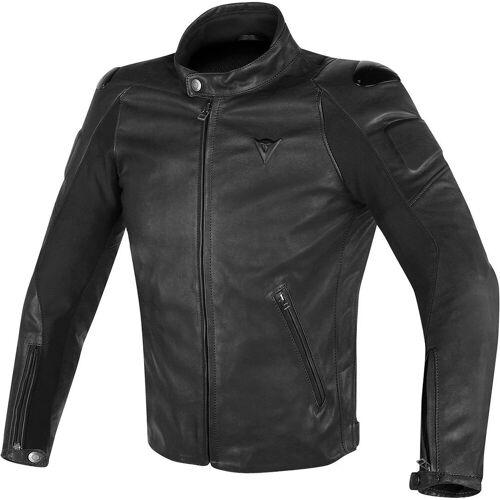Dainese Street Darker Motorfiets lederen jas - Zwart