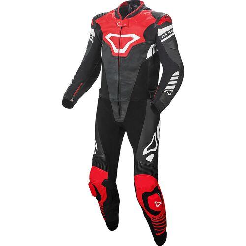 Macna Tracktix Two Piece Geperforeerde motorfiets lederen pak - Rood