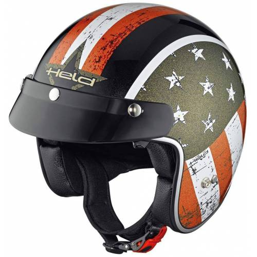 Held Black Bob Vlag Ontwerp Jet Helm - Zwart