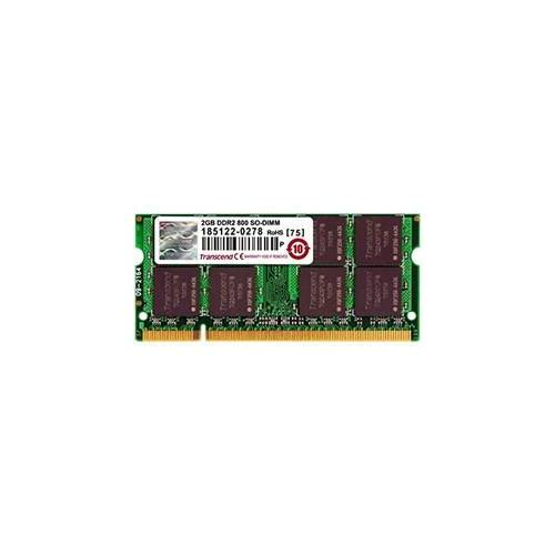 Unknown Transcend 2GB RAM Laptop geheugen 200P DDR2 SODIMM(256Mx64 128M x 8/DDR2/800 5-5-