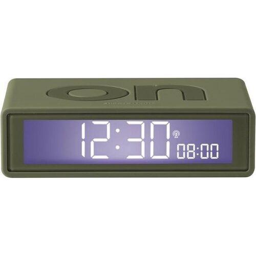 Lexon Flip Digitale Wekker ON OFF - Army Green