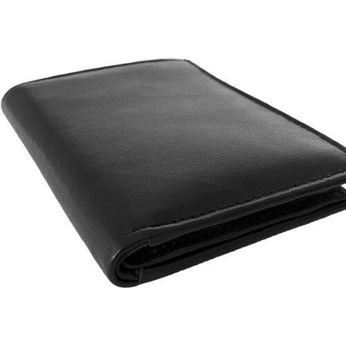 Lundholm portemonnee heren zwart zeer soepel nappa leer