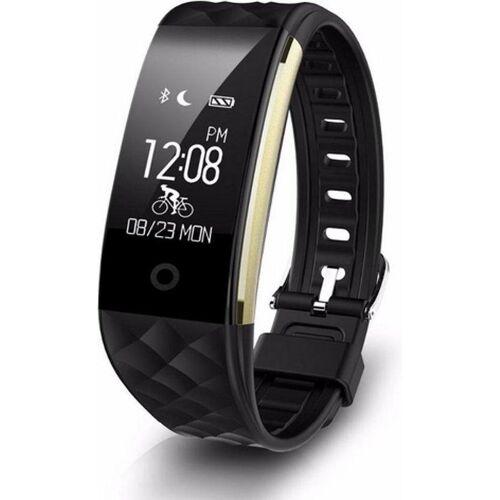Merkloos Activity tracker zwart met hartslagmeter Calorieteller Stappenteller Hardloop horloge Slaapmonitor