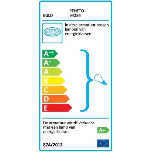 EGLO Peneto - Inbouwspotje - LED - 78mm. - Chroom - Set 3 Spots