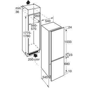 ETNA KCD50178 - Inbouw Koel/vriescombinatie