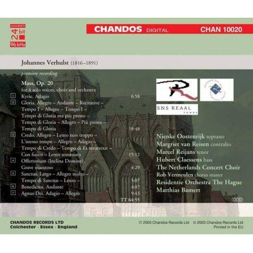 Unknown Residentie Orchestra The Hague - Mass Op.20 (CD)