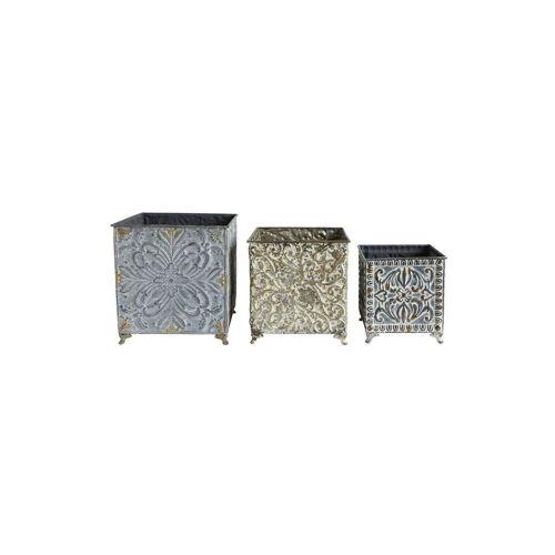 Bloomingville Set van 3 tinnen Merillac potdeksels