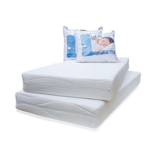 Droommatras 200 x 70 Matras Pocket 320 voordeelset 2 matrassen + 2 kussens