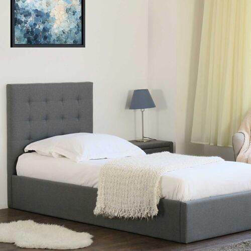 emob Bed met opbergruimte Lucio 90x200 - grijs
