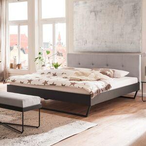 meise_mobel Tweepersoonsbed Bosko 160x200 met sledepoten - beige/grijs