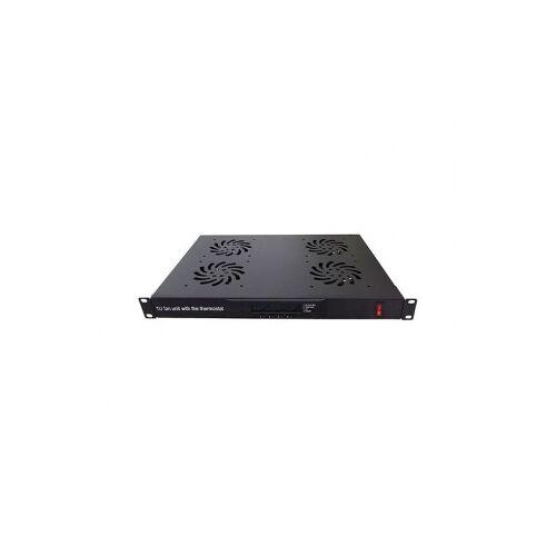 Alfaco Patchkast ventilator - Alfaco (19 inch, 1U, 4 stuks)
