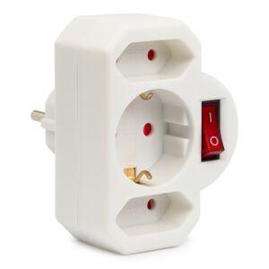 Brennenstuhl Stopcontact splitter - Brennenstuhl (3-voudig, Schakelaar, 1 x Schuko, 2 x Euro type C)