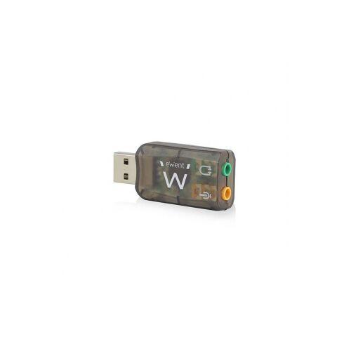 Ewent USB geluidskaart - Ewent (USB A naar jack, Virtueel 3D geluid)
