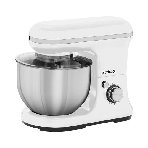 bredeco Keukenmixer 1200 W - planetaire mixer - 5 L - Wit 10080045