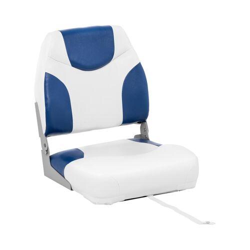 MSW Bootstoel - 42 x 50 x 51 cm - Wit Blauw 10061628