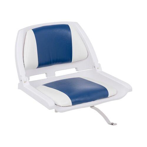 MSW Bootstoel - 45x51x38 cm - Wit Blauw 10061631
