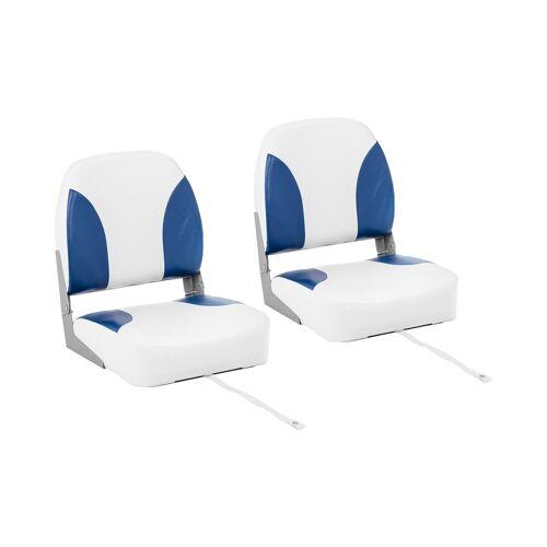 MSW Bootstoel - 2 stuks - 41 x 50 x 51 cm - Wit Blauw 10061633