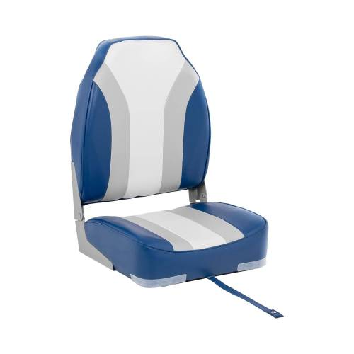 MSW Bootstoel - 36x43x60 cm - wit-blauw-grijs 10061635