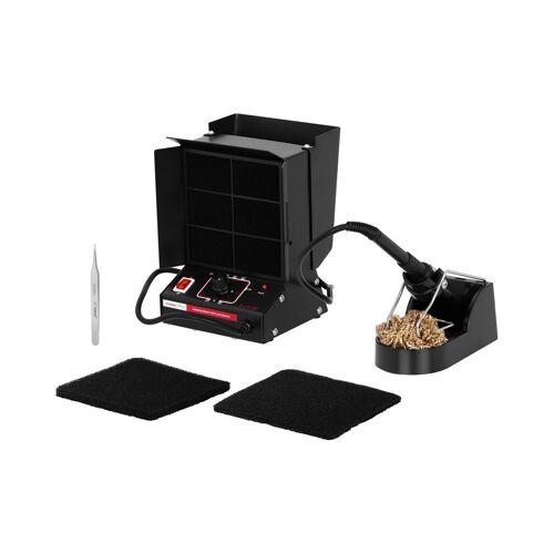 Stamos Soldering Soldeerstation - 80 Watt - soldeer afzuiger - soldeer reiniger - 3in1 10021083