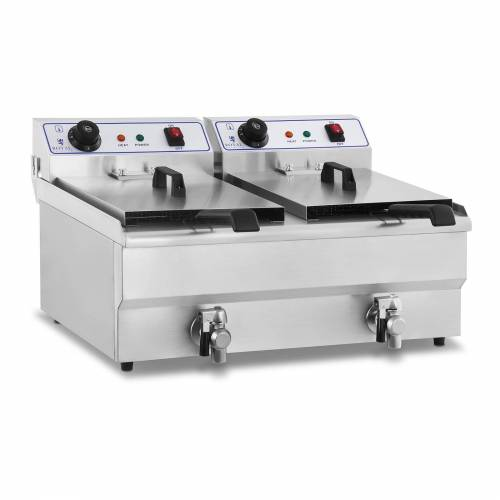Royal Catering Elektrische friteuse - 2 x 16 liter - 230 V 10010029