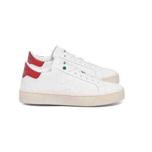 Womsh Vegan Snik White Red Veganistische Sneaker Wit Rood 40
