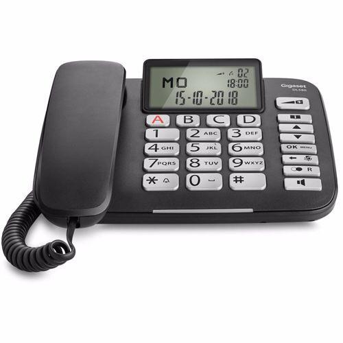 Siemens Gigaset DECT telefoon DL580 (Zwart)
