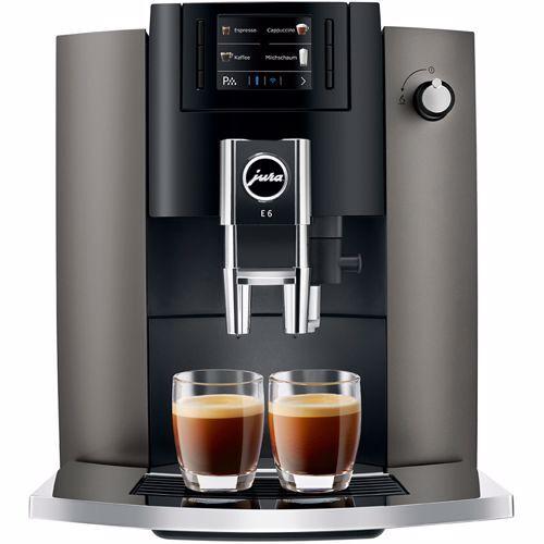 Jura espresso apparaat E6 Dark Inox (Wit)