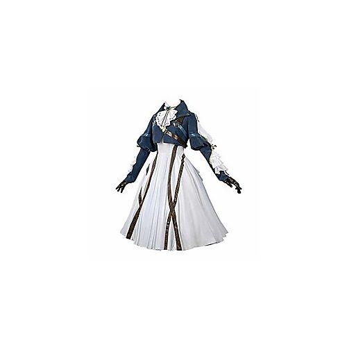 violet evergarden cosplay kostuum dames anime uniformen pak, donkerblauw, klein