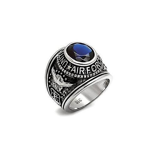 roestvrij staal usaf ons luchtmacht vs verenigde staten militaire veteraan blauwe ovale stenen ring maten 8,9,10,11,12amp; 13 (9)