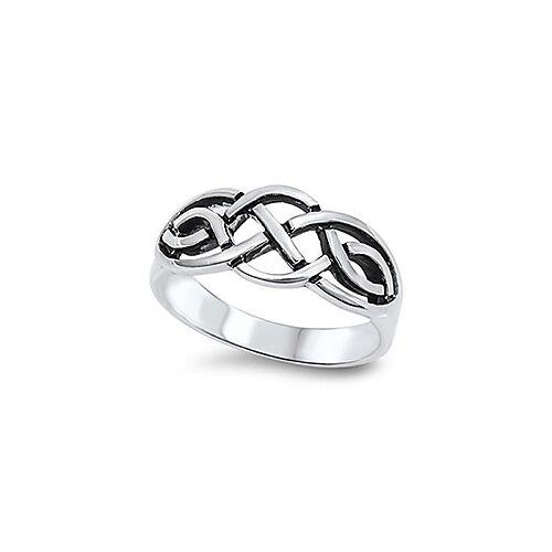 sterling zilveren trinity stijl wicca geweven ring maat 9