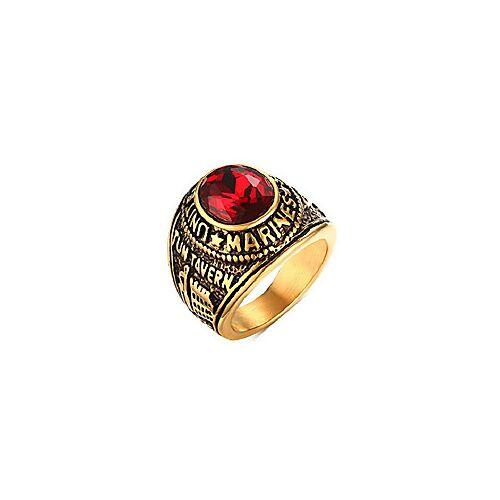 roestvrij staal verguld tun taverk rode steen verenigde staten militaire corps ringen voor mannen, maat 9