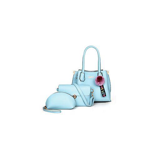 Dames Tassen PU zak Set 3 stuks Purse Set POM Pom Effen Kleur Dagelijks Afspraakje Wit Zwart blauw Rood