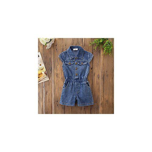 Kinderen Voor meisjes Basic Effen Overall Jumpsuit blauw