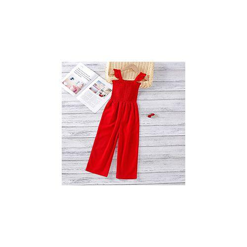 Kinderen Voor meisjes leuke Style Effen Overall Jumpsuit Rood