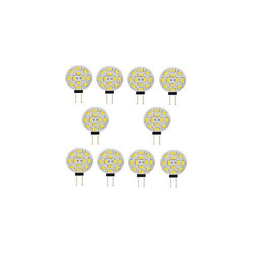 10 stuks 3 W 2-pins LED-lampen 300 lm G4 T 12 LED-kralen SMD 5730 Warm wit Wit 12 V