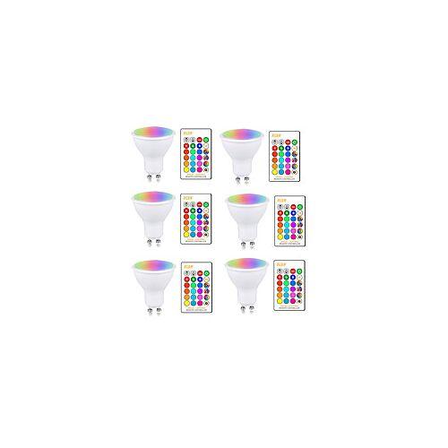 5W RGBW LED-lamp GU10 E27 AC85-265V Verlichtingslamp Kleurverandering Dimbaar met IR-afstandsbediening