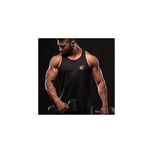 Voor heren Training Tank Top Hardlooptanktop Singlet uitvoeren Zomer Katoen Ademend Sneldrogend Zacht Fitness Gym training Actieve training Joggen Sportswear Effen Kleding Bovenlichaam Zwart blauw
