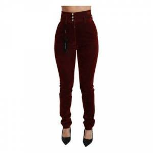 Dolce & Gabbana Hoge taille Stretch Slim broek - Female - It40 S