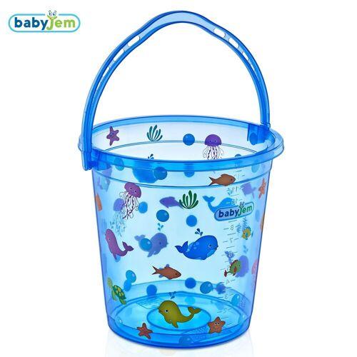 Babyjem Bademmer Babyjem Transparant Fish Blauw