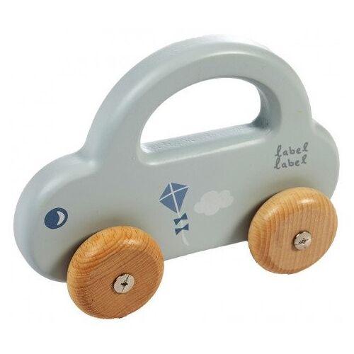Label-Label Houten Auto Label-Label Little Car Blue
