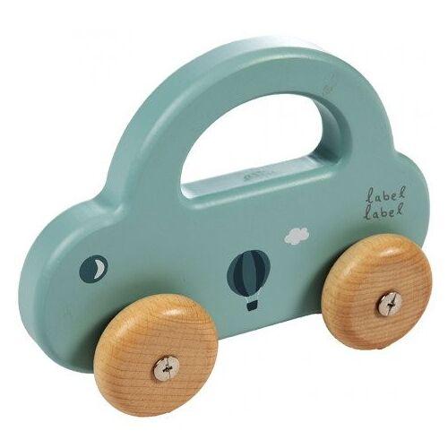 Label-Label Houten Auto Label-Label Little Car Green