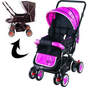 Derya Bebe Kinderwagen Babycare Johnson Snopy Black/Pink