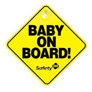 Safety1st Safety 1st baby on board bordje Geel