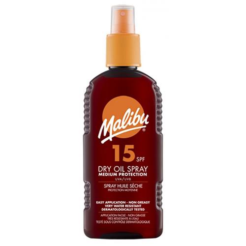 Malibu Dry Oil Spray SPF15 200 ml Zonnebrandcrème